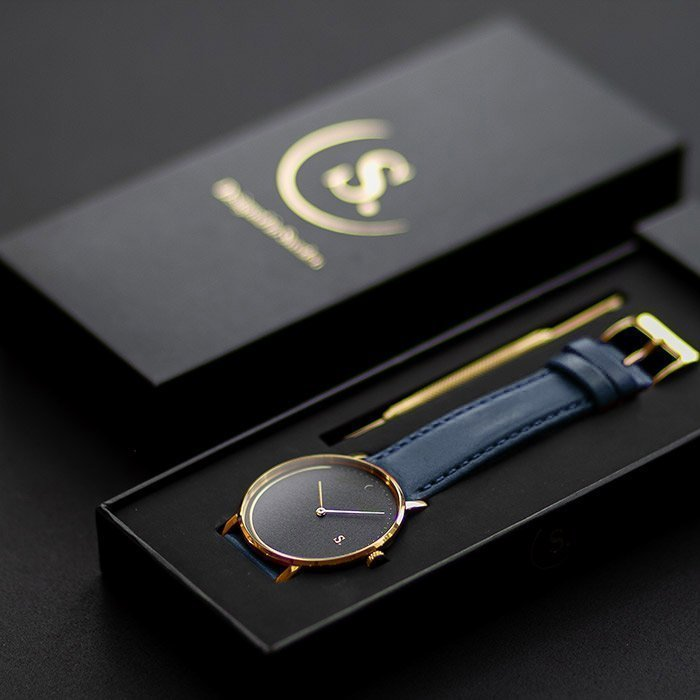 NIGHT Watch with Navy blue recycled strap