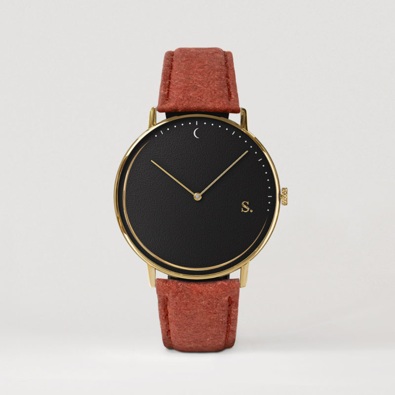 Swedish watches with straps made from Pineapple leaf